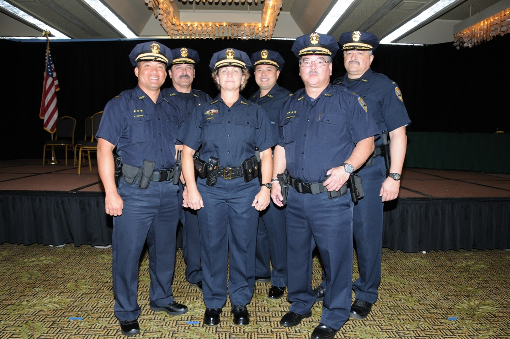 Six officers were promoted to the rank of Lieutenant.