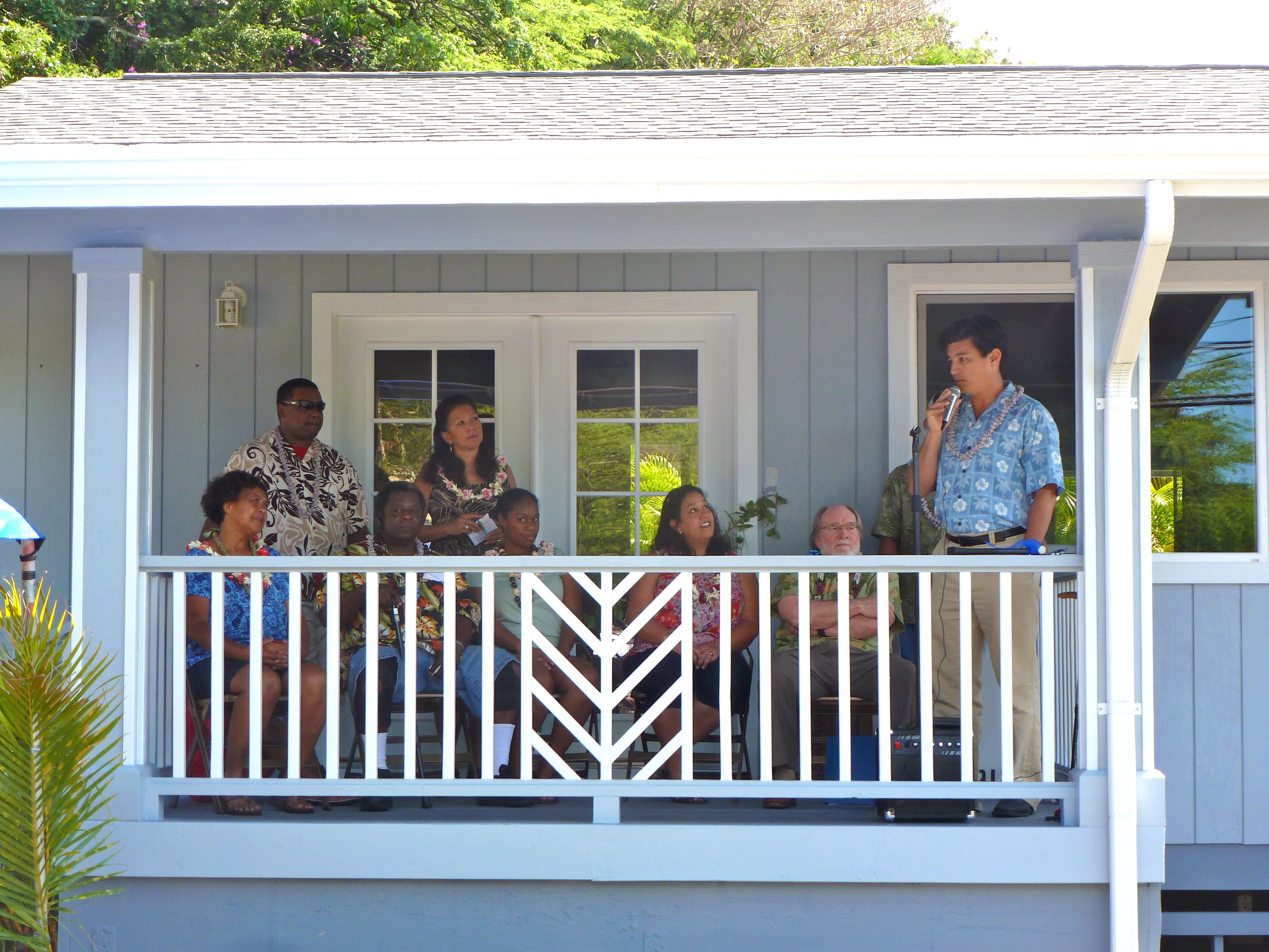 Andrew Yani, principal and founder, Bonterra Solar, speaks on Bonterra Solar's commitment to provide a new solar hot water heating system to every Honolulu Habitat for Humanity Home to help families reduce their electricity costs while helping to move Hawaii toward a clean energy future.