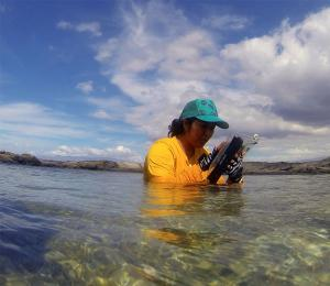 Novel waterproof electronic tablets will support community-based monitoring of reefs in Hawai'i.