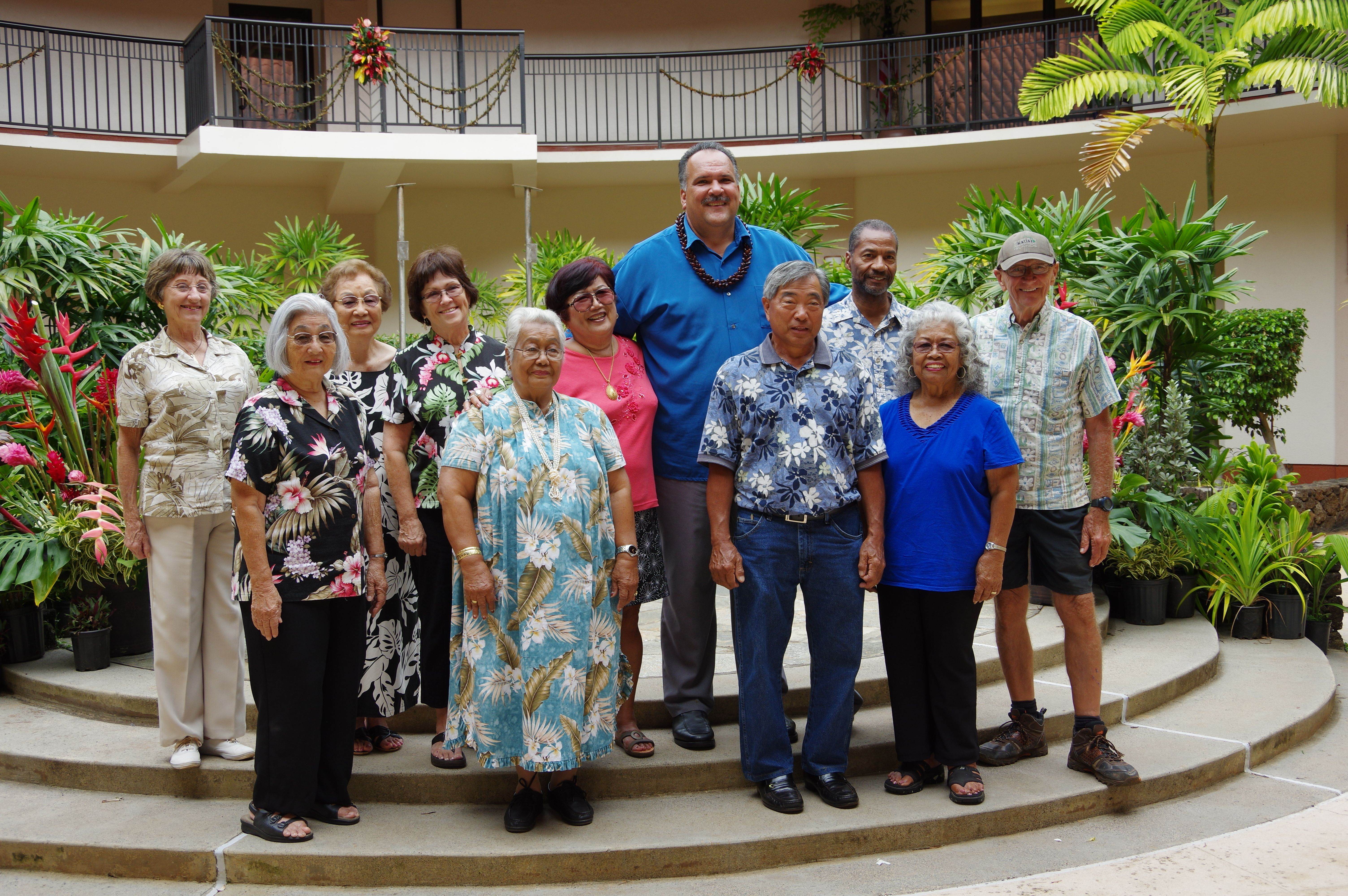 Ten kupuna who were nominated for Kaua'i's Outstanding Older American awards will be honored at the 48th annual Older American Recognition Ceremony next month. The nominees are pictured with Mayor Bernard Carvalho, Jr. From L to R: Deloros Kaauwai; Asako Iwamoto; Yukie Okino; JoAnne Machin; Aida Rajel; Marilyn Matsumoto; Mayor Bernard Carvalho, Jr.; Roy Miyashiro; Robert Sims; Florentina Moreno and Loren Johnson.