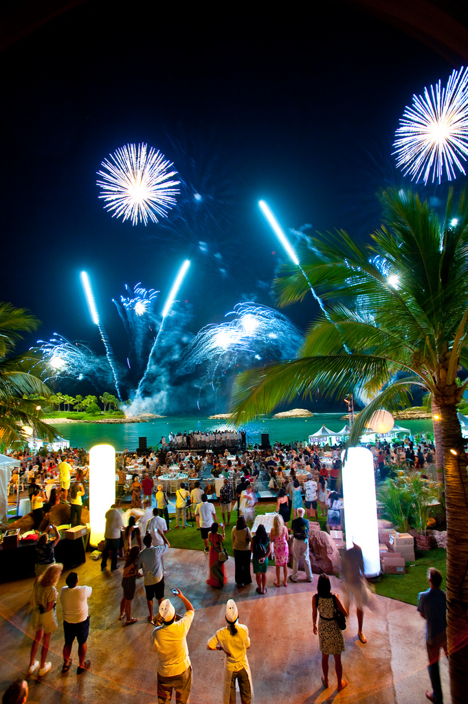 Picture was taken from the 2013 Hawaii Food & Wine Festival event at Ko Olina.