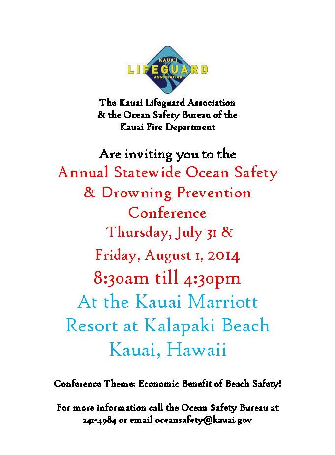 2014 State drowning prevention conference flyer
