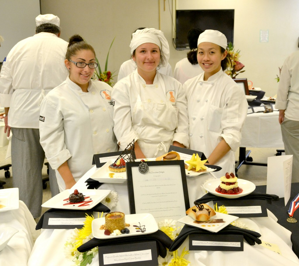 Hawai'i Community College Culinary Arts students pose with the dishes they prepared at last year's Hilo Culinary Classic. The 17th Annual Hilo Culinary Classic takes place Friday, April 10 and is open to the public.