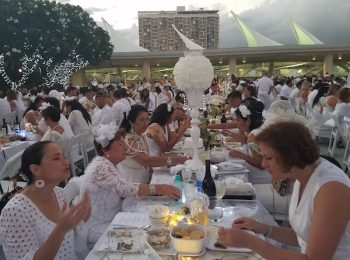 Diner En Blanc: 1,600 in Oahu Elegantly Dressed in White to Celebrate Aloha and Community