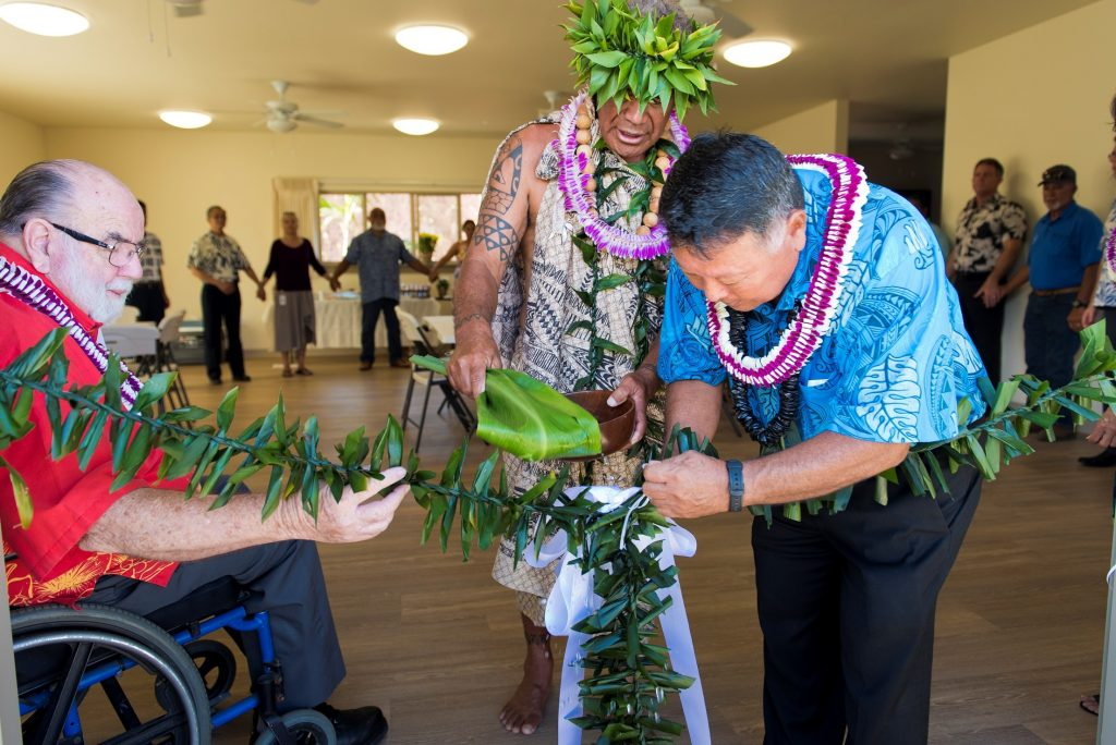 Kulamalu Dedication_Mayor Arakawa_Councilmember Robert Carroll_Kahu Kimokeo Kapahulehua_Ryan Piros PHOTO