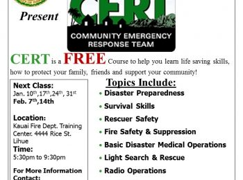 CERT Class Flyer, Jan-Feb 2018