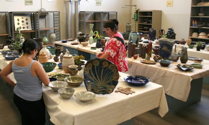WCC Ceramics Club Pottery sale