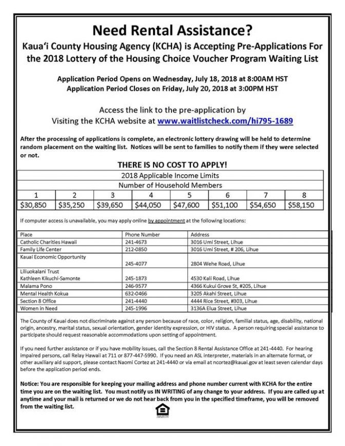 Hawaii Ahe Housing Agency To Open Section 8 Housing Choice Voucher