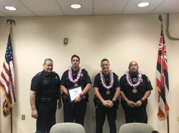 Officers of the Month Recognized at Police Commission Meeting