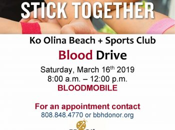 Ko Olina Beach + Sports Club To Host Blood Drive On March 16th