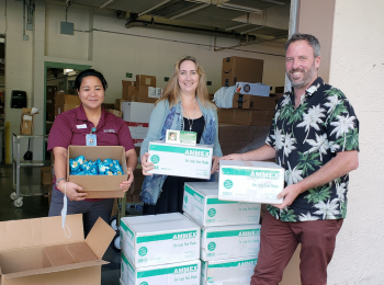 Mauna Loa Donates 6,600 Disposable Masks to Hilo Medical Center