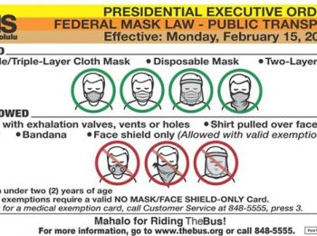 Presidential Executive Order for mandatory masks effective February 15